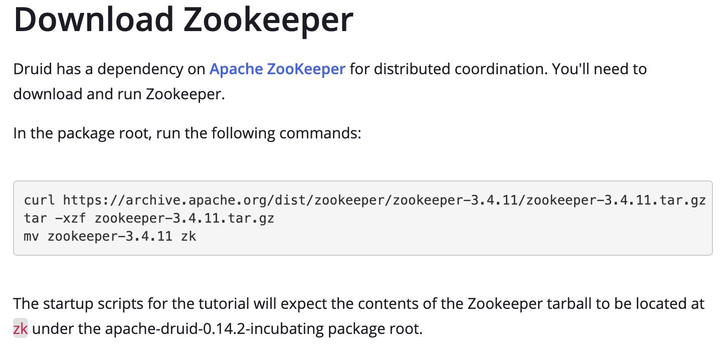 Single server Druid quickstart should not need Zookeeper
