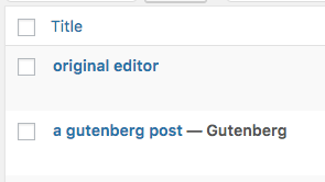 Gutenberg status