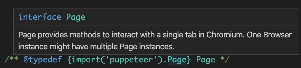 Working Example:  type