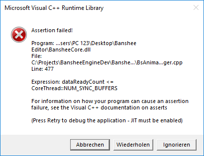 Editor crash · Issue #174 · BearishSun/BansheeEngine · GitHub