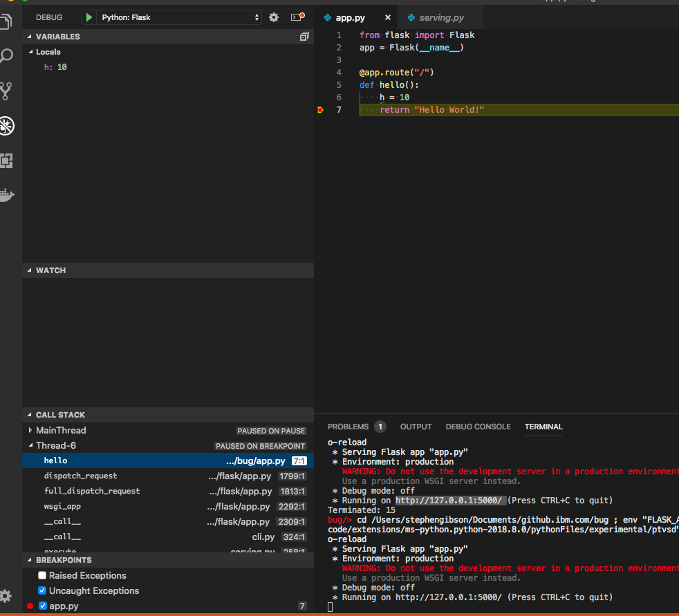 Unable to debug flask after recent vscode upgrade · Issue