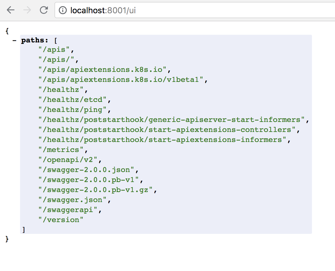 http://localhost:8001/ui does not redirect to dashboard · Issue