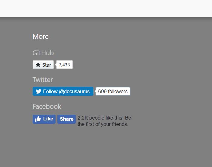 Add more social media integration · Issue #218 · facebook