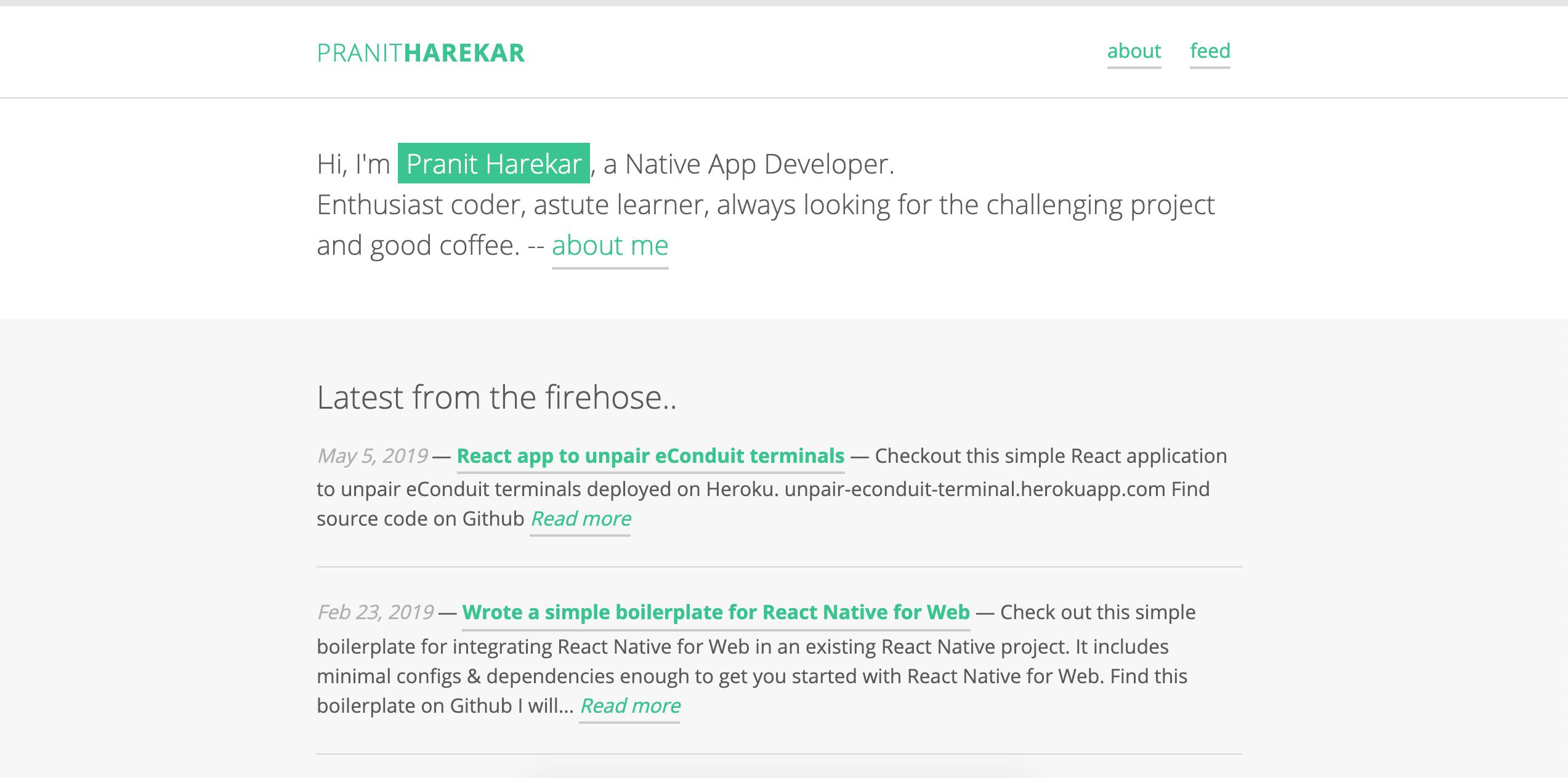Open-sourced my personal portfolio website   Pranit Harekar