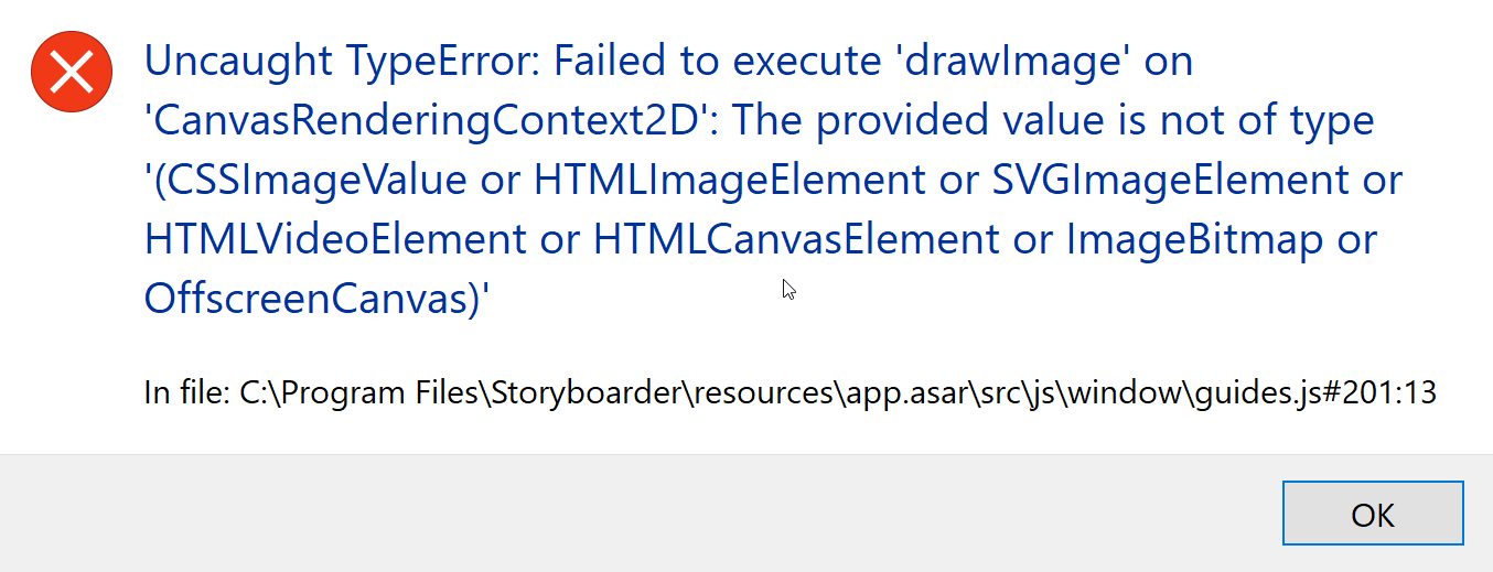 Throws an error when I open 3d guide · Issue #1617