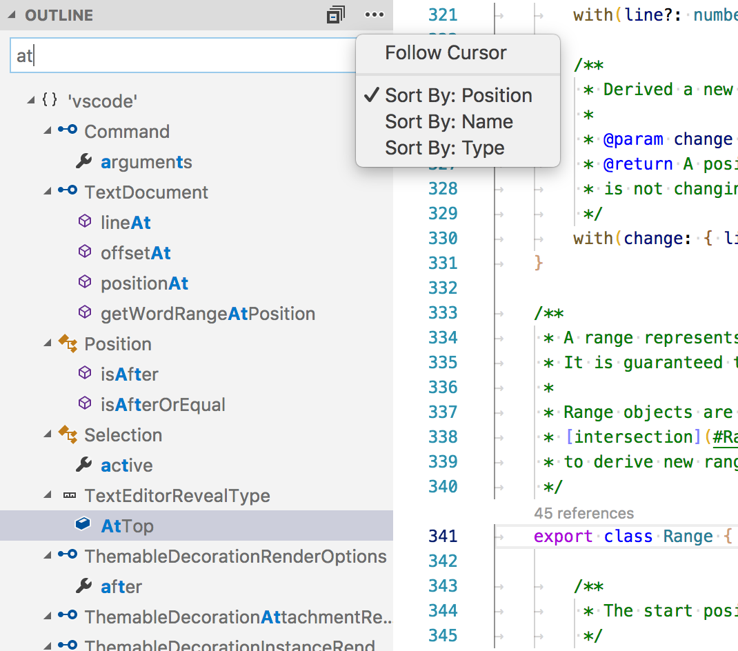 Feature Request Symbols Tree View Issue 5605 Microsoftvscode