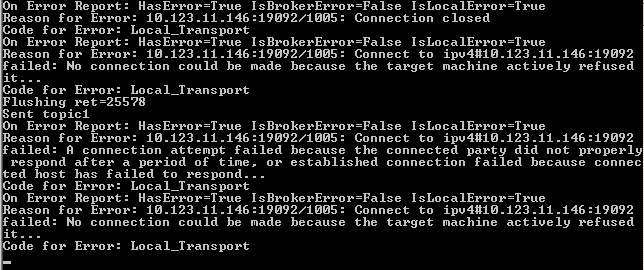 Losing/dropping Messages in High Availability Producer