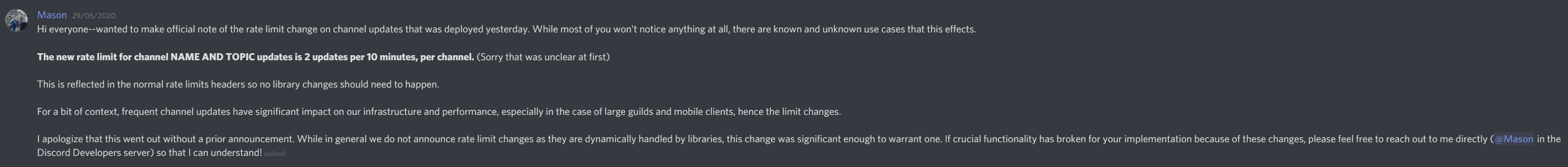 Channel Update Ratelimits Are Inconsistent And Annoying To Work With Issue 2190 Discord Discord Api Docs Github