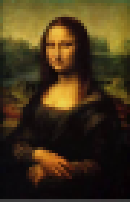 Mona Lisa Pixelated