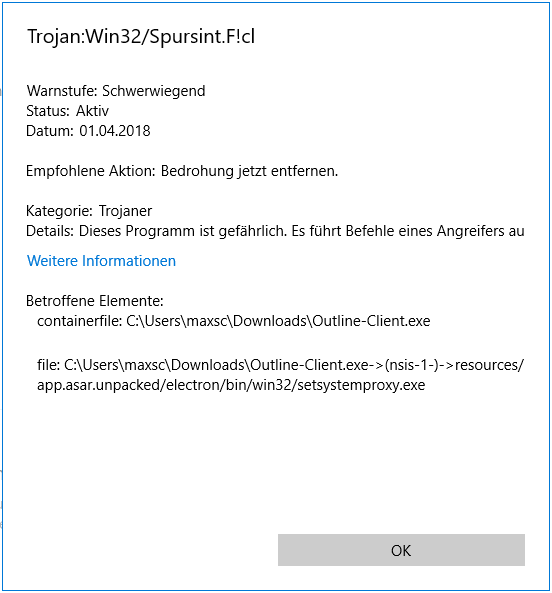 Detected as a Trojan via Windows Defender · Issue #51 · Jigsaw-Code