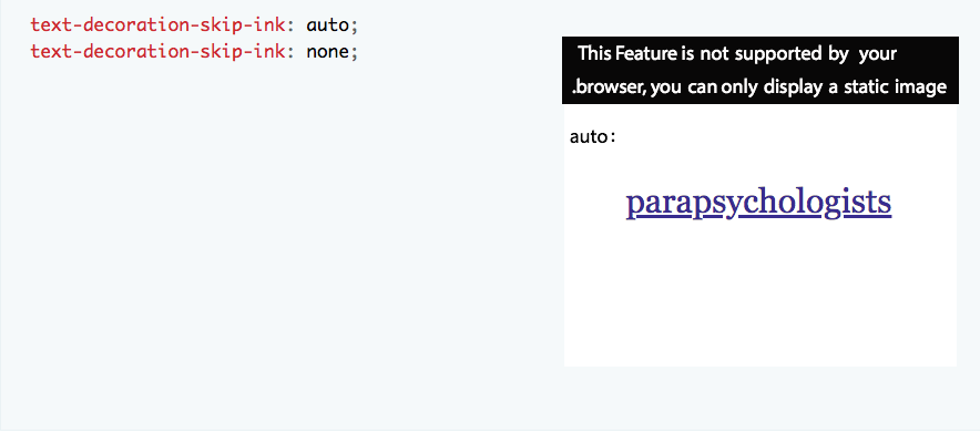 CSS editor is confusing when the feature isn't supported