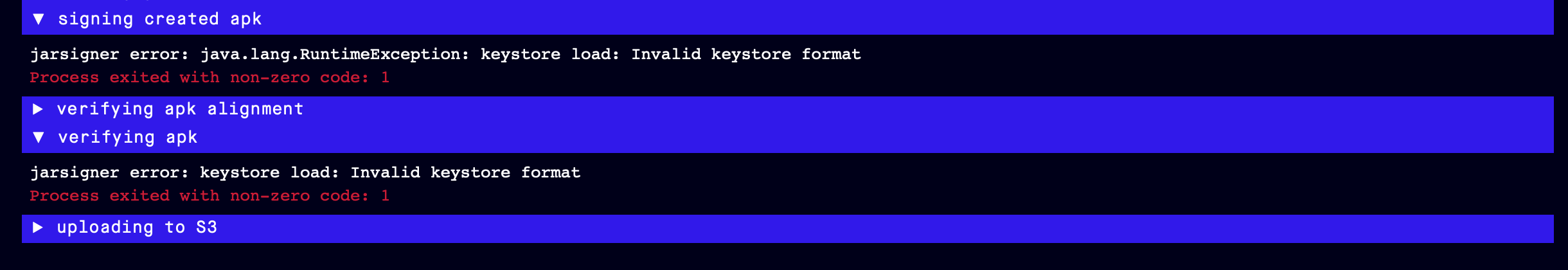 Invalid Keystore Format When Building For Android Issue 380 Expo Expo Cli Github