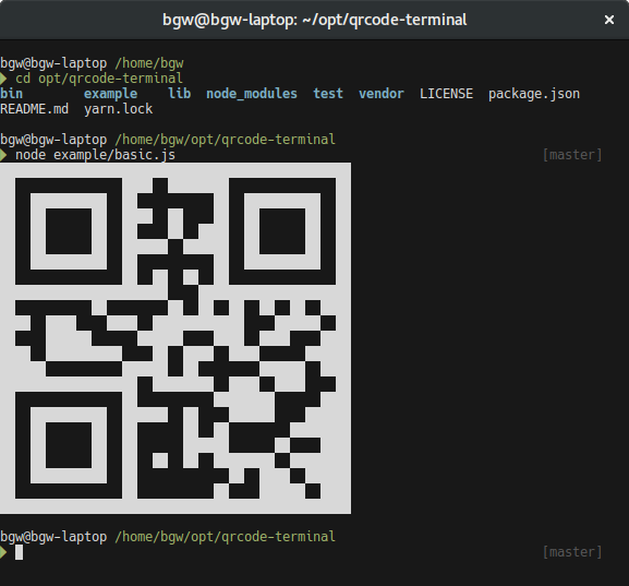 QR Code not being displayed in terminal (For react-native