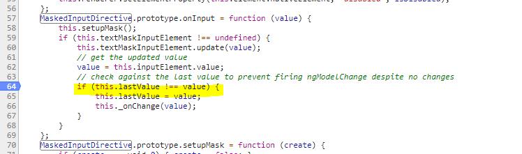 Angular 2+: Setting value programatically does not trigger onInput