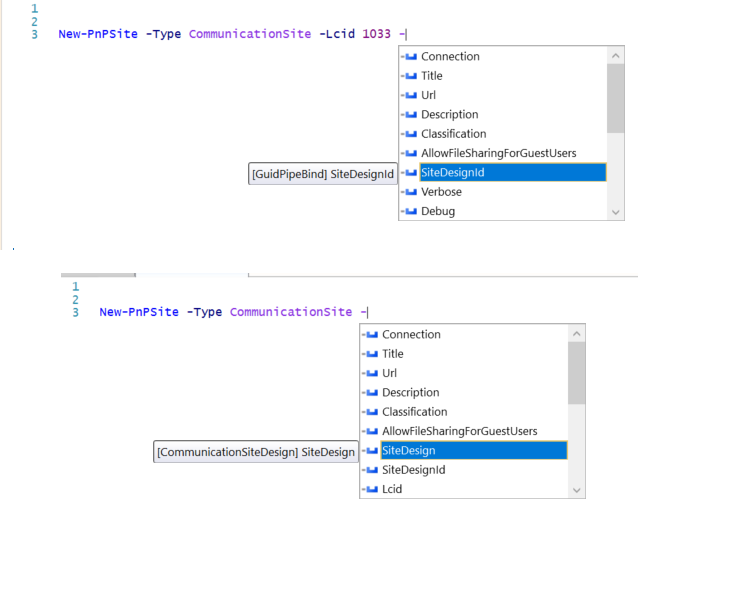 New-pnpsite missing parameters after using parameter -lcid or ...