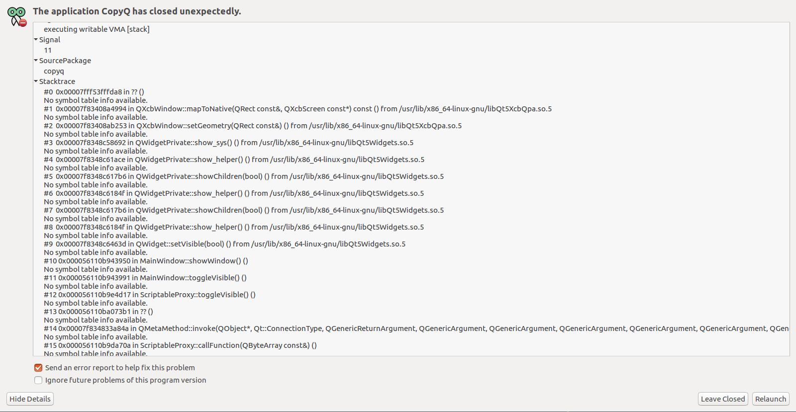 Running on Ubuntu 16 04 TLS, kernel: 4 14 13-041413-generic