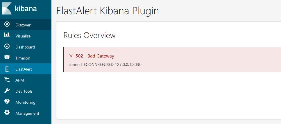 Problem with Elastalert-Kibana-Plugin for elasticsearch 6 3