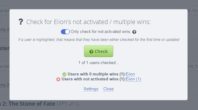Add option to clear cache to Not Activated/Multiple Wins