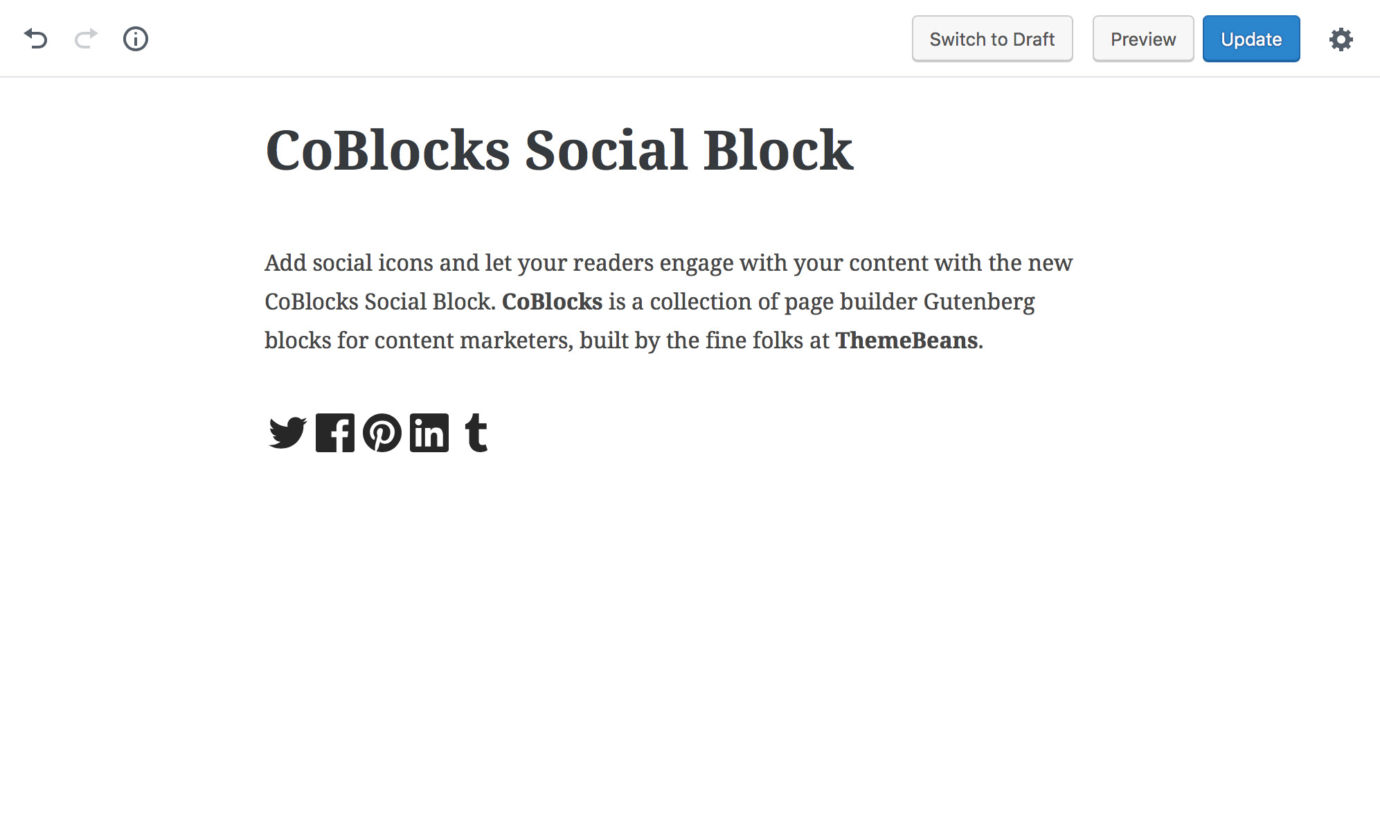 CoBlocks Social Block