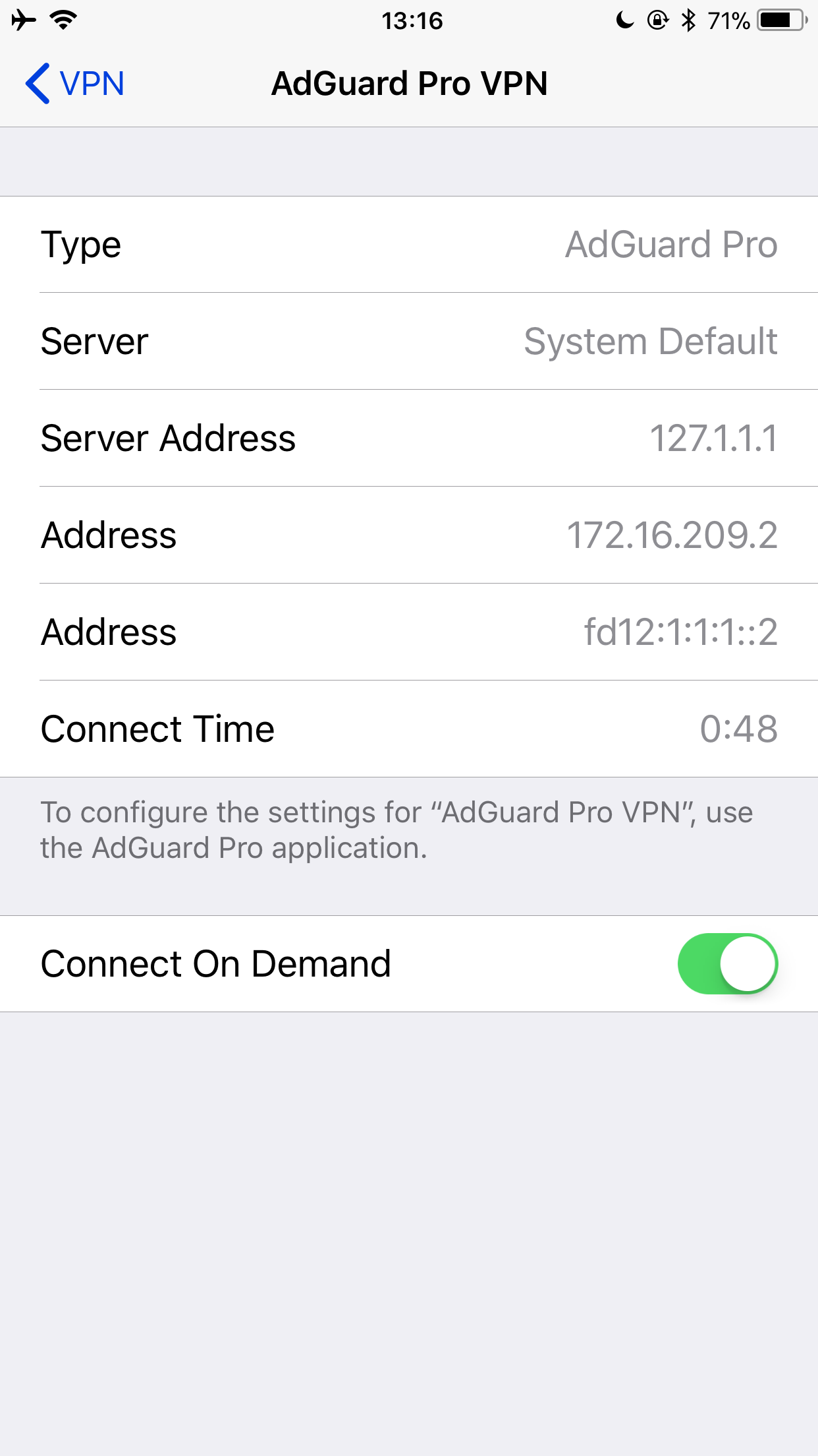After having reinstalling AdGuard Pro there are now 2 AGP