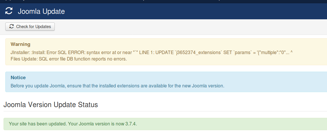 Joomla! Issue Tracker   Joomla! CMS #17505 - [postgresql