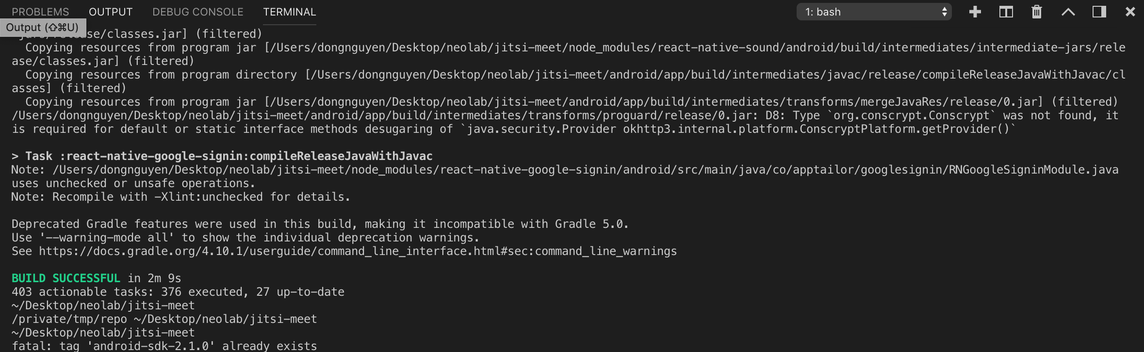 Android craches with pre-build SDK · Issue #4257 · jitsi/jitsi-meet