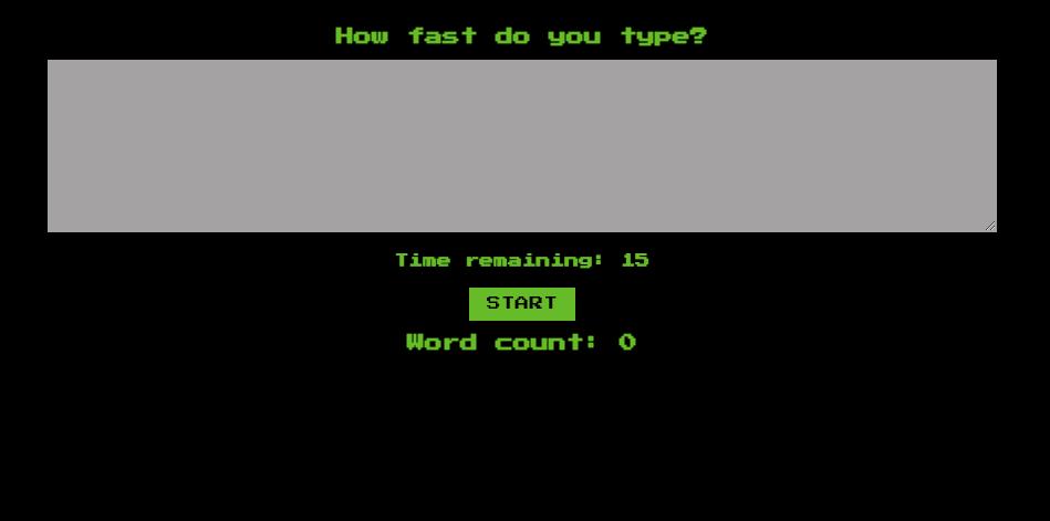 speed-typing game