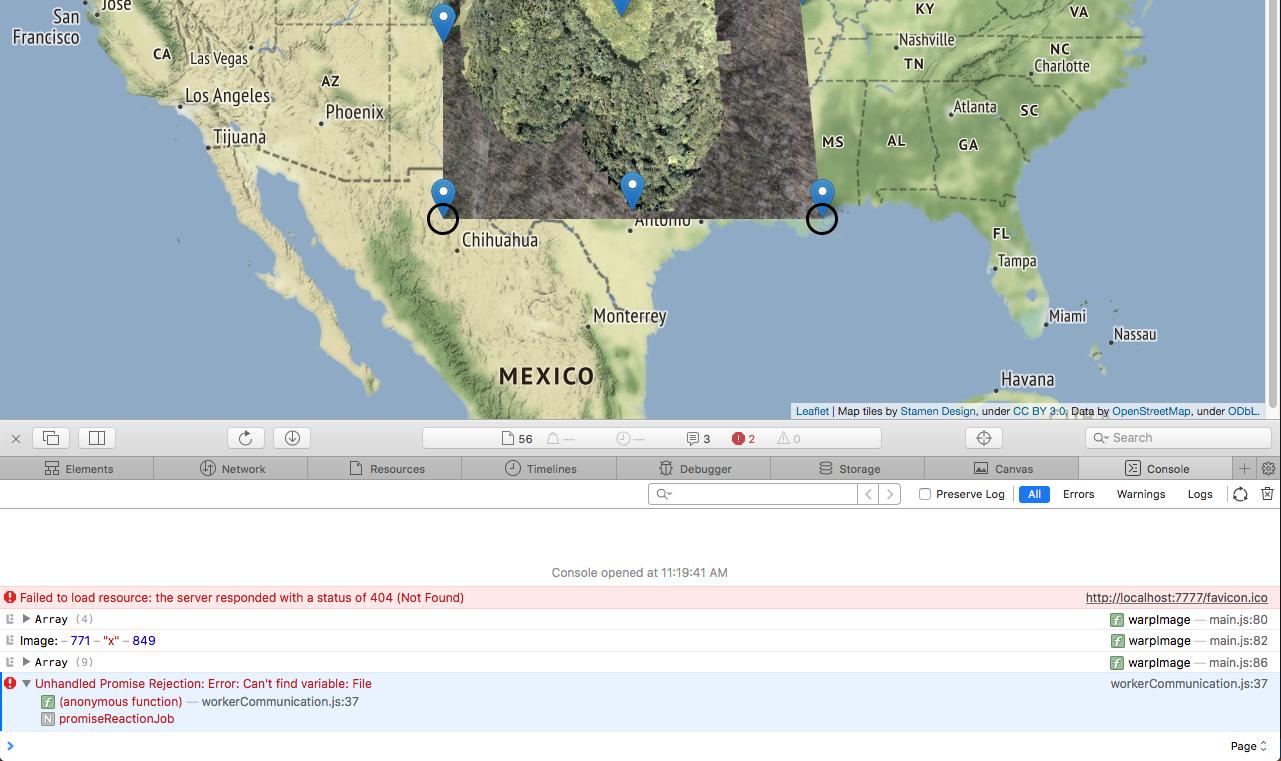 loam web worker in Safari throws