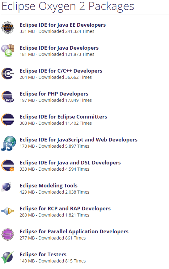 eclipse oxygen download for java ee developers