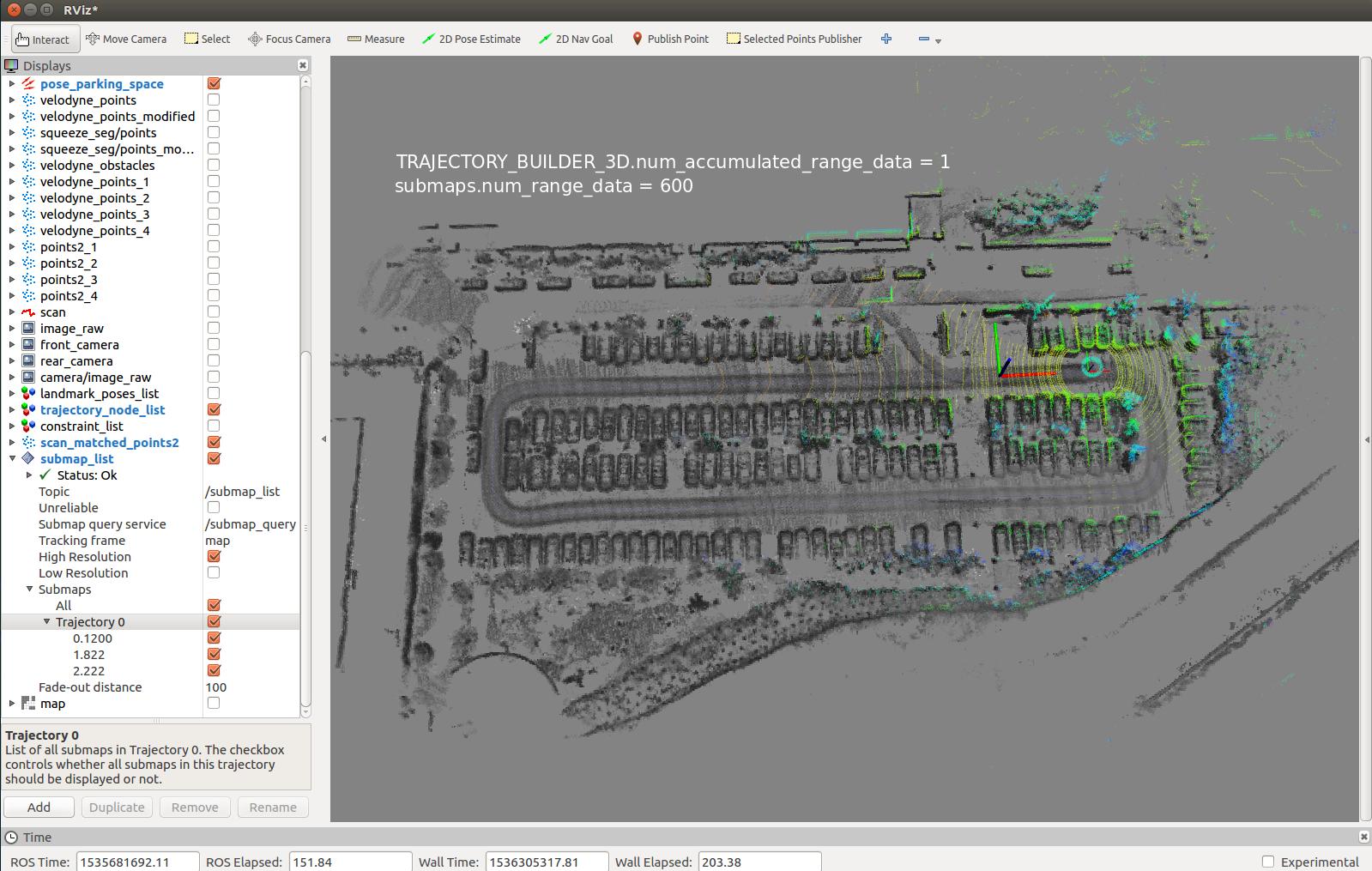 few INTER Constraints when doing Pure Localization 3D SLAM
