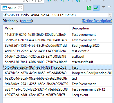Value dictionary not clickable / copyable