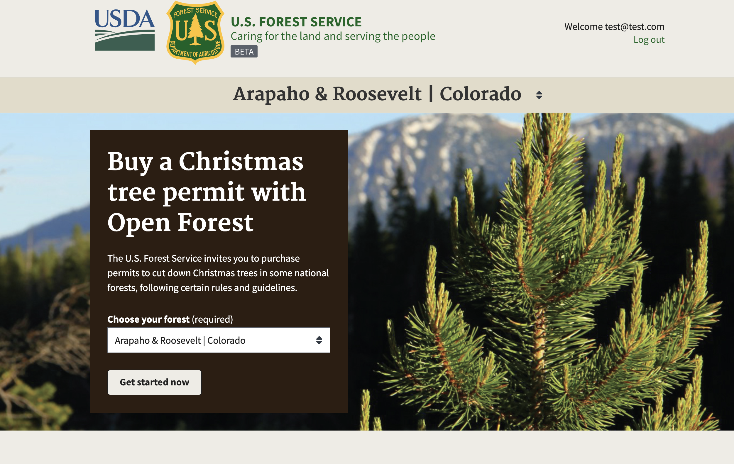 Colorado Christmas Tree Permits 2019 As a user I need to be able to see what the name of the forest is
