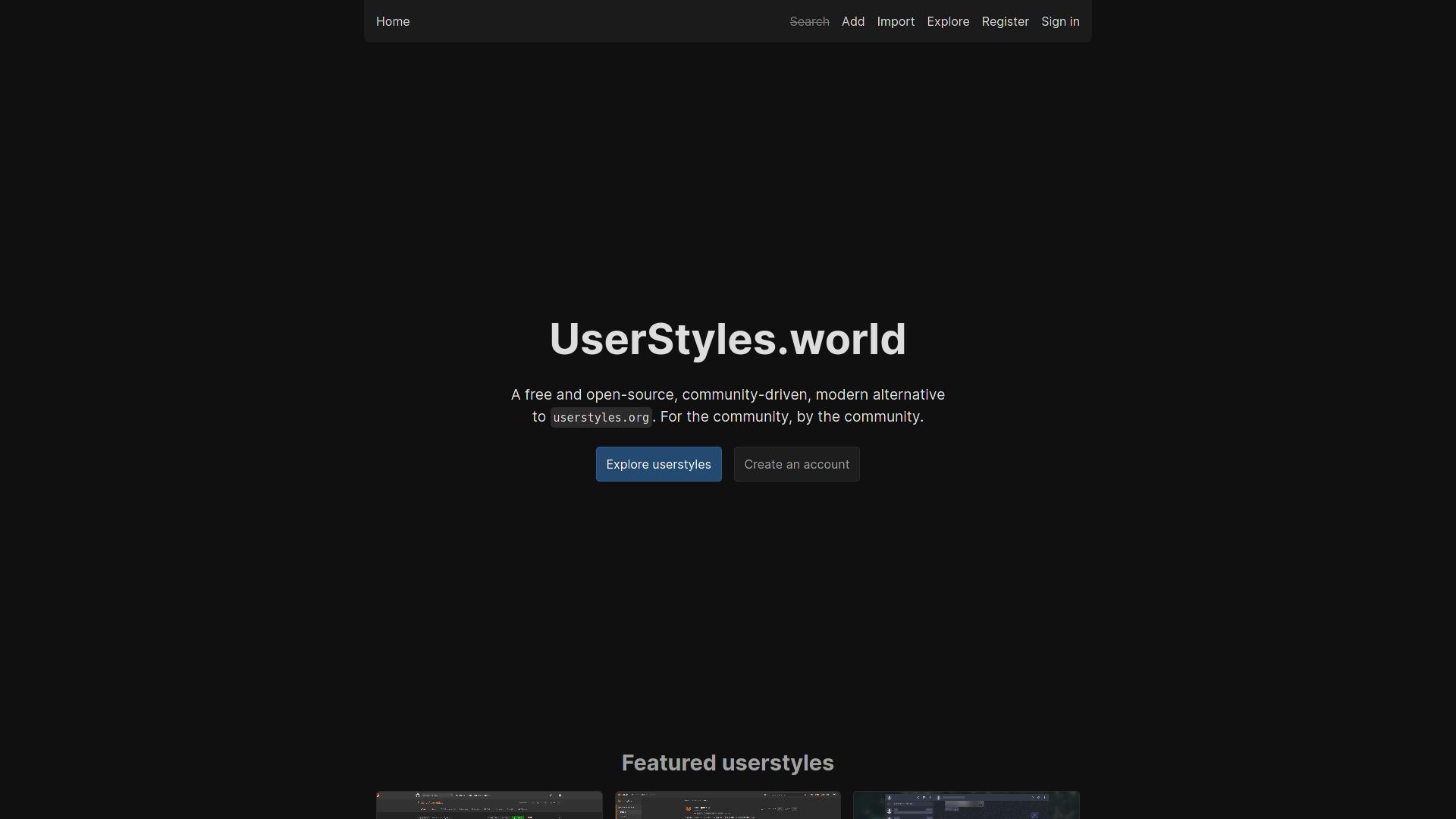 UserStyles.world Tweaks screenshot