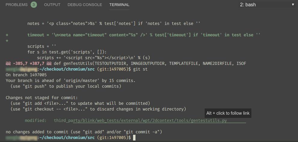 Broken underlines for git status output · Issue #70907 · microsoft