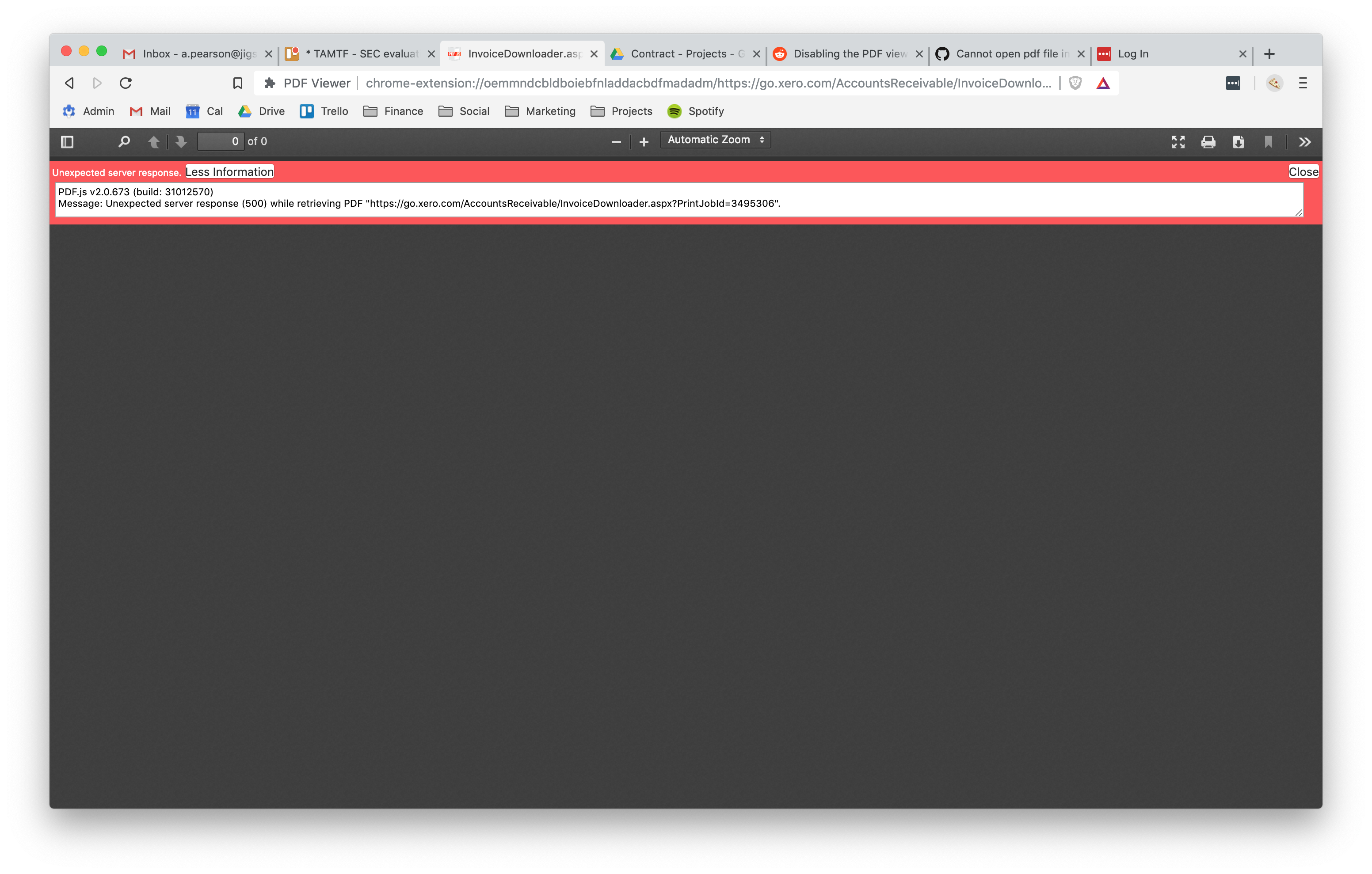 PDF inside of a popup window does not load (works fine in