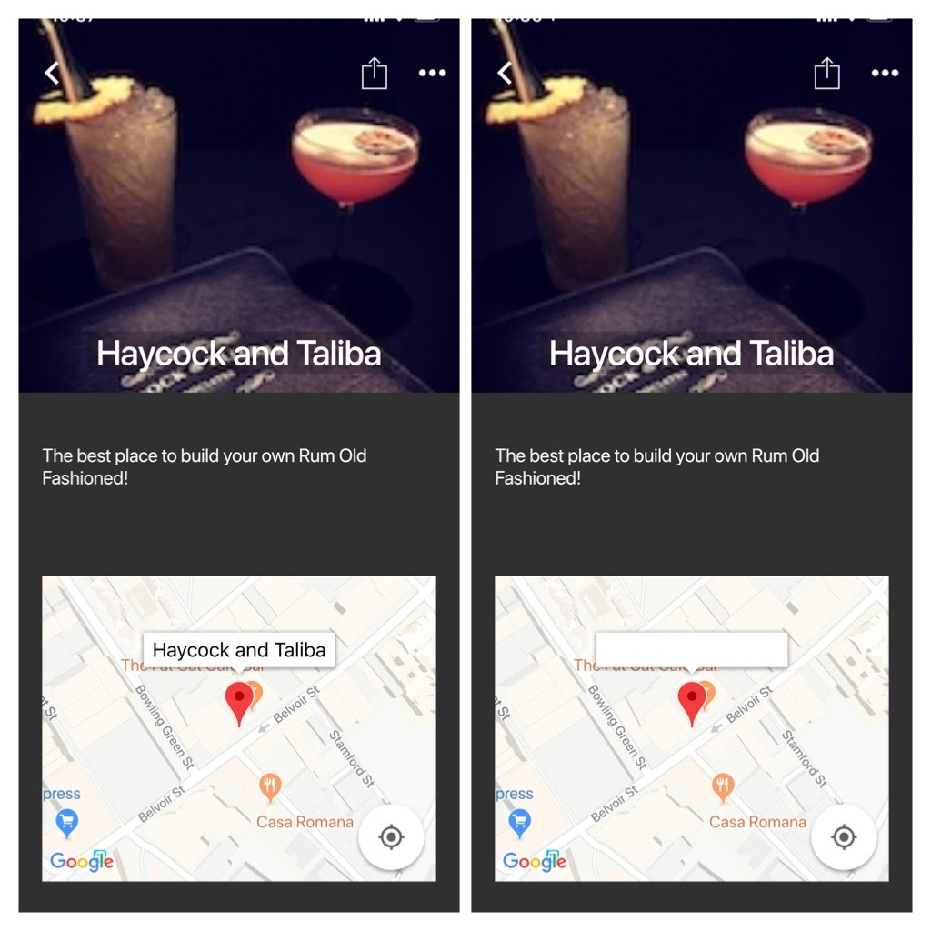 Google Maps Plugin Marker Windows Display Incorrectly In Ios 13