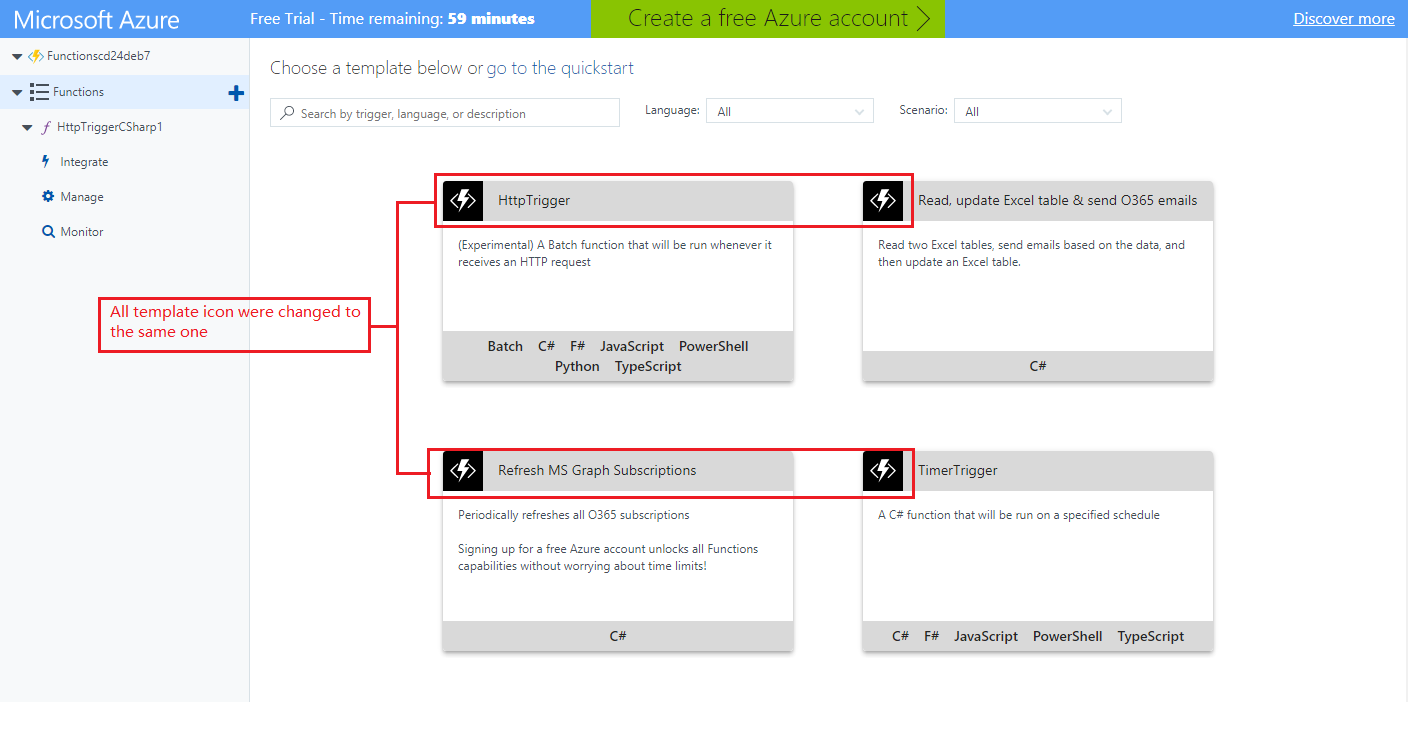 Try Functioncreate Function All Templates Have Same Icon Issue