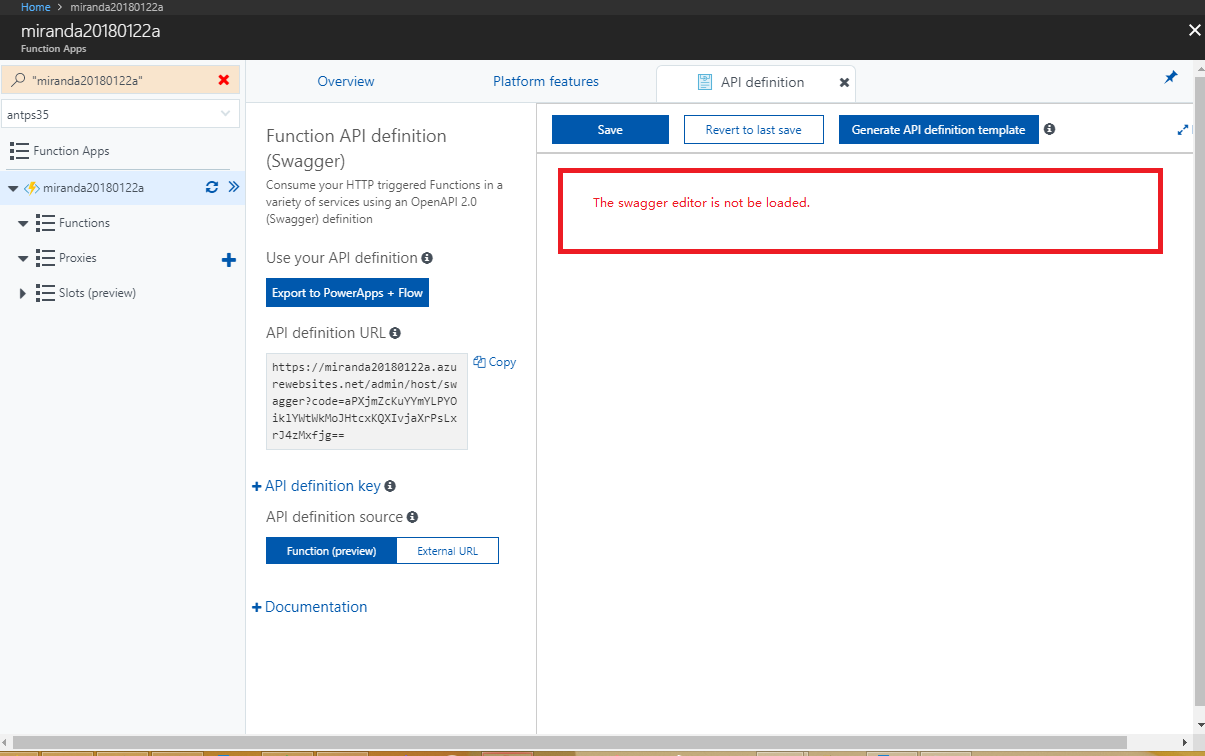 Api Definition Template Editor Is Missing Issue 2227 Azure
