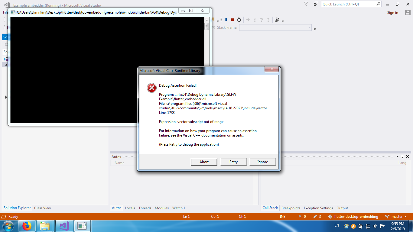 windows] Debug assertion failed! · Issue #269 · google/flutter