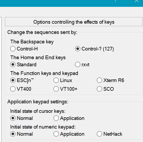 Make the terminal emulator escape codes configurable for F