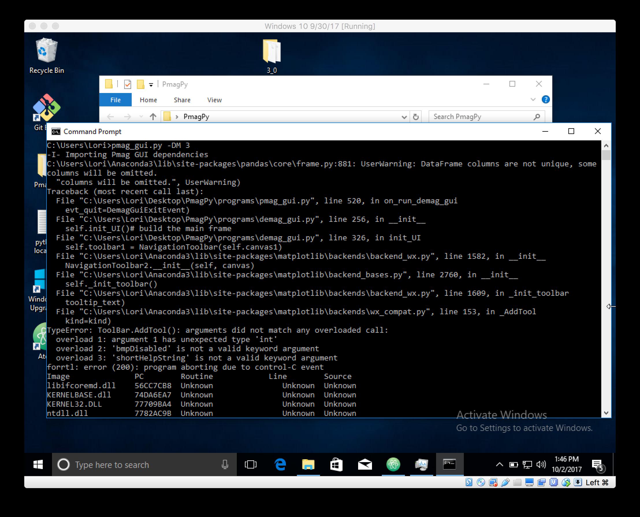 NavigationToolbar error with some versions of wxPython & matplotlib