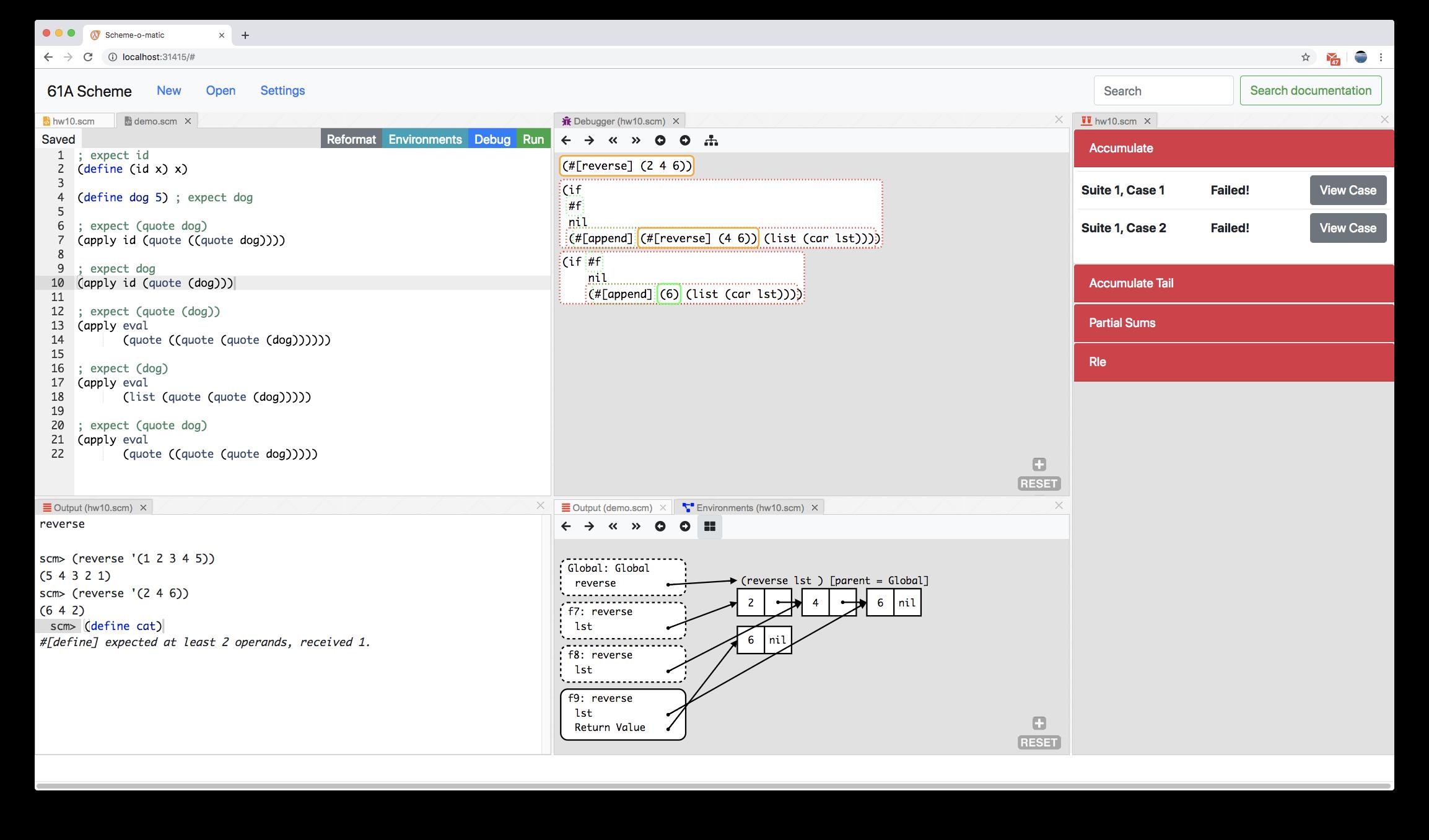 GitHub - Cal-CS-61A-Staff/scheme_editor: Web-based debugging tool