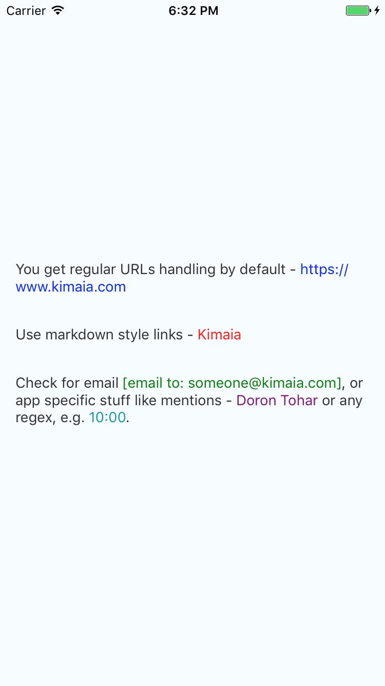 GitHub - Kimaia/react-native-hyperlinked-text: Text