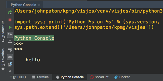 Cursor below prompt in PyCharm Python Console · Issue #20