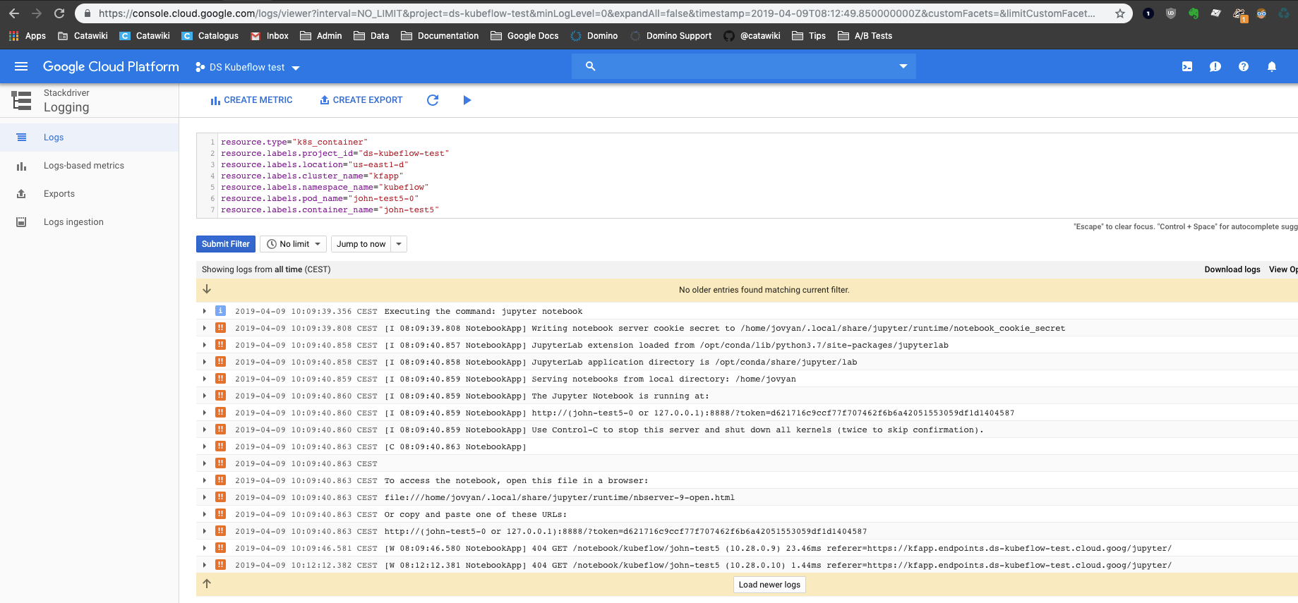 Jupyter Server Connect button leads to 404 · Issue #2961