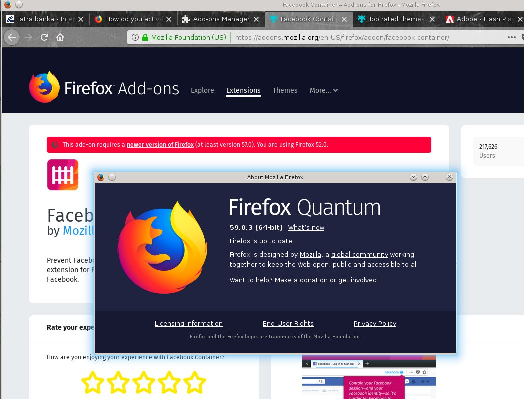 In Linux 64 bit do not detect correctly vesion of firefox