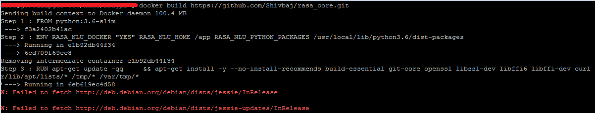 Exception: Not all required packages are installed  To use