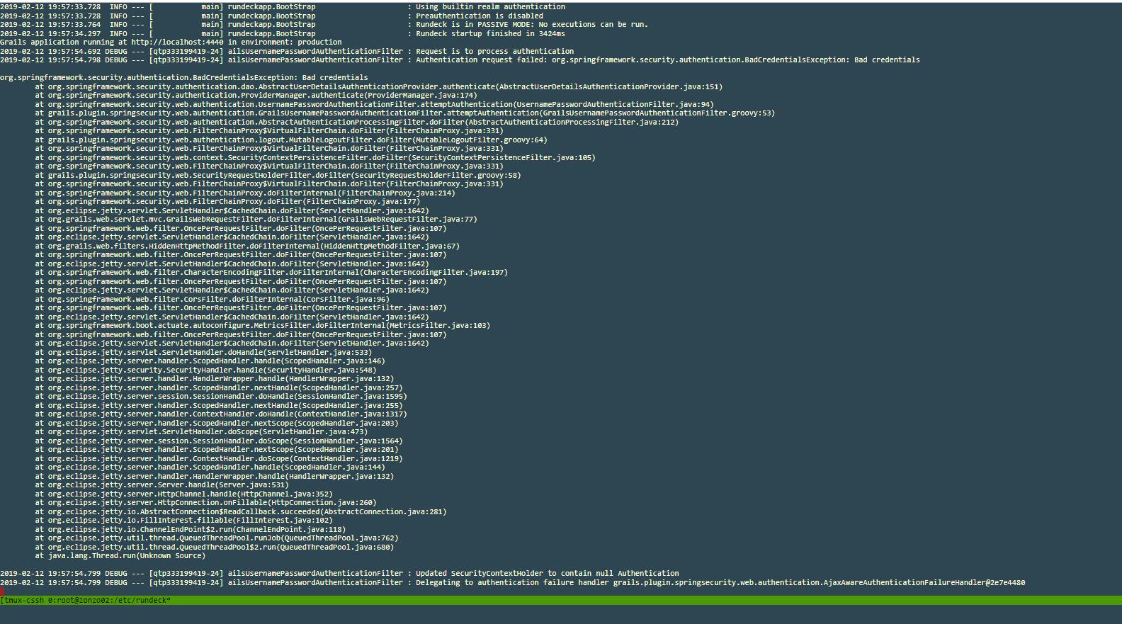 Active Directory authentication client returns bad credentials