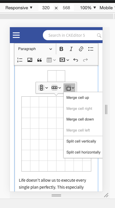 Table UI and UX · Issue #3161 · ckeditor/ckeditor5 · GitHub