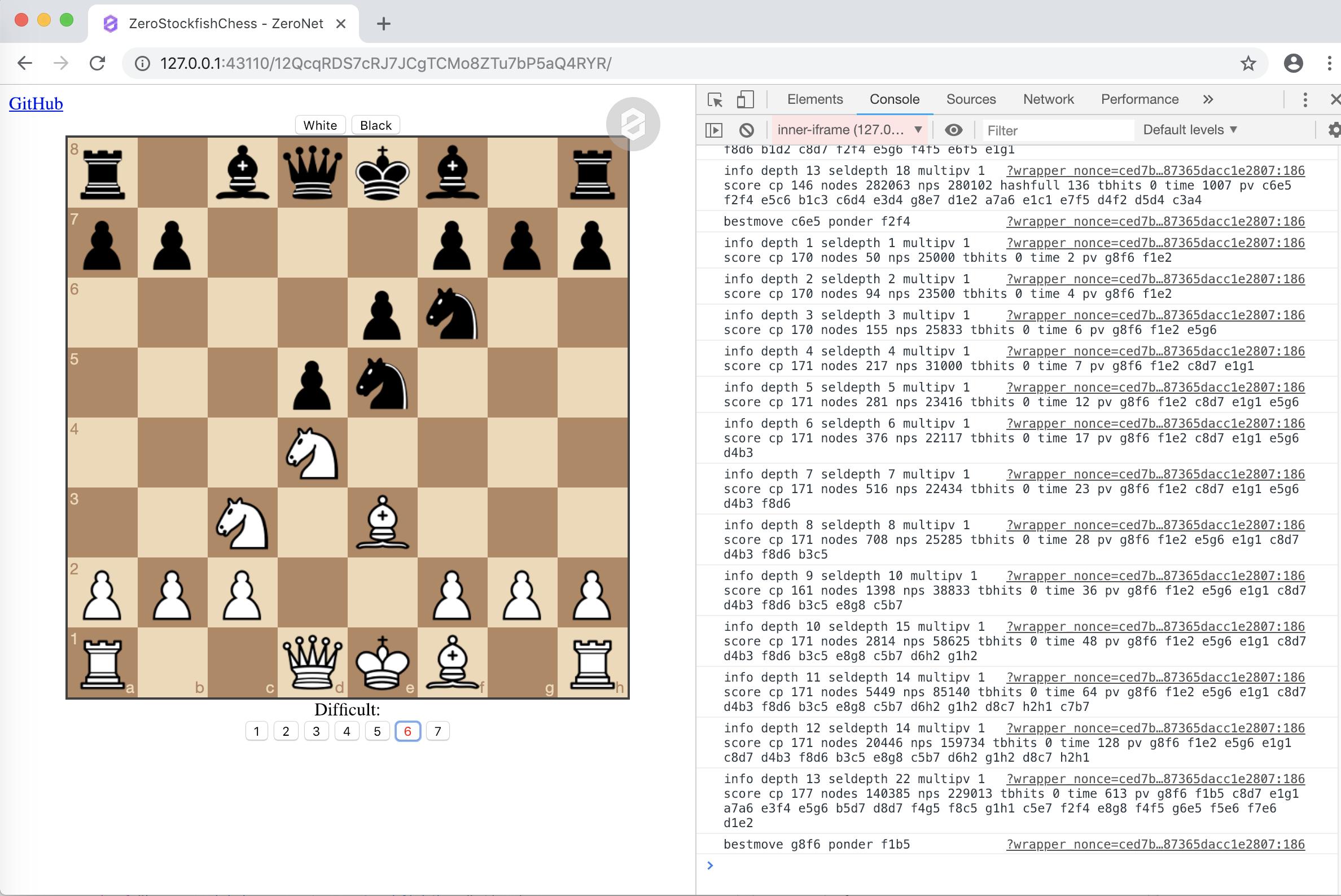GitHub - vtr0n/ZeroStockfishChess: Chess game in Zeronet using